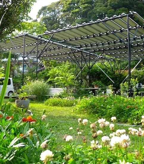 庭園ソーラーシェアリング